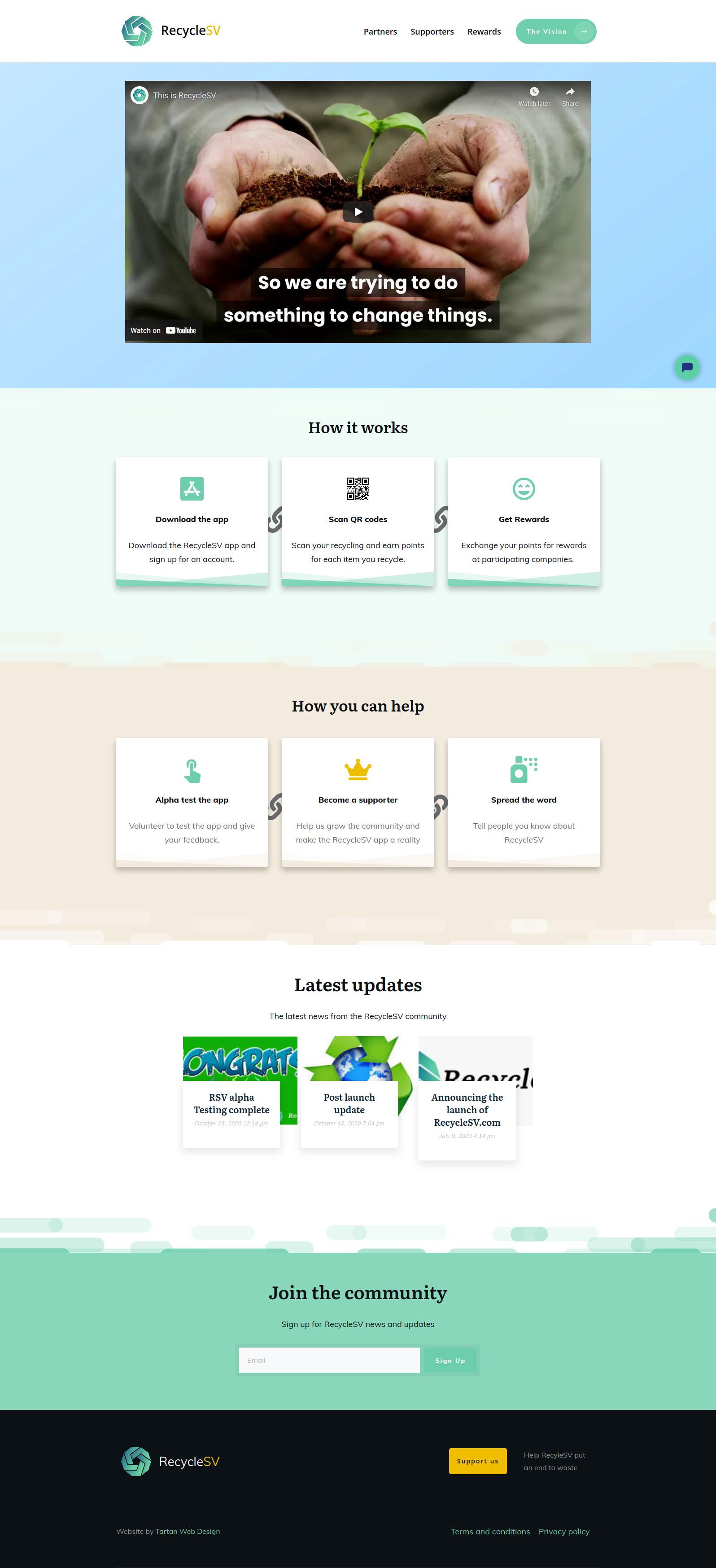 RecycleSV website
